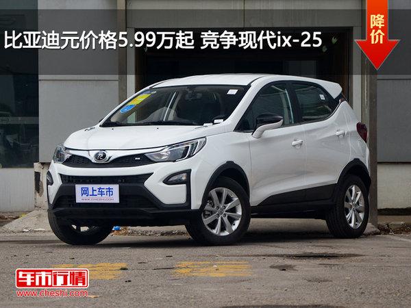 比亚迪元价格5.99万起 竞争现代ix-25-图1