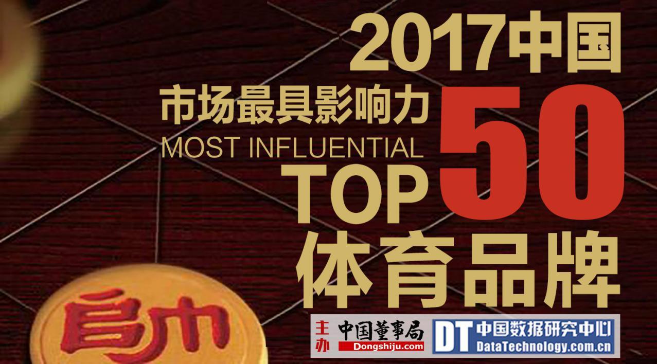 2017第三届中国市场最具影响力体育品牌50强榜单揭晓