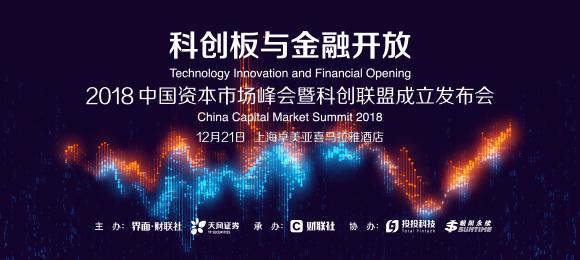 科创板与金融开放 2018中国资本市场峰会